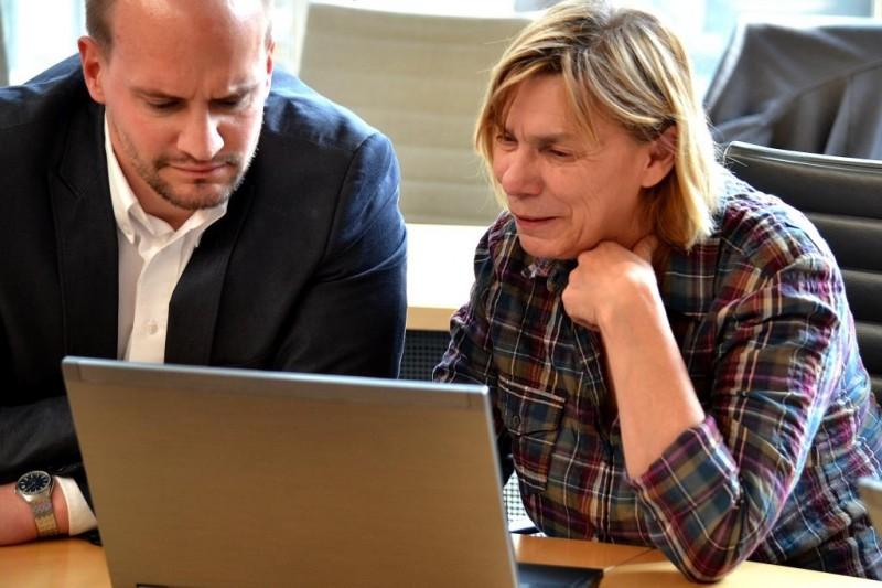 Jutta Velte MdL und Marc Schulz